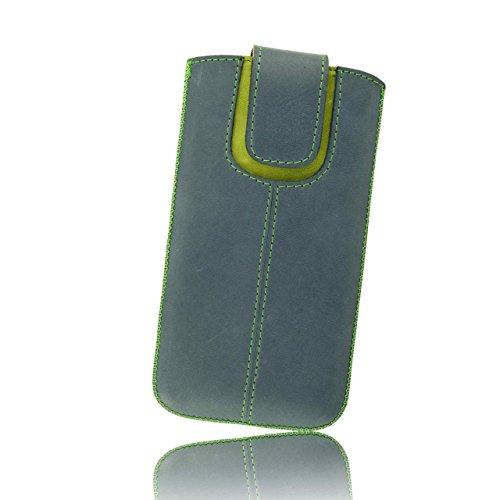 OrLine Handytasche geeignet für Lenovo Moto X. Ledertasche Tasche Echtleder Etui Leder-Hülle (Lasche mit Rückzugfunktion Ausziehhilfe) Schutzhülle Hülle Cover