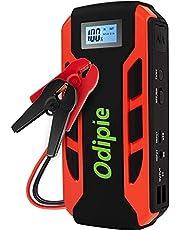 ODIPIE ジャンプスターター 18000mAh大容量 12V車用エンジンスターター LCDディスプレイ搭載 (最大6.0Lガソリン車・3.0Lディーゼル車対応)800Aピーク電流 モバイルバッテリー機能 非常用電源 急速充電 安全保護システム LED緊急ライト 専用ケース付属 DC/Type C充電対応 24ヶ月保証[A10]