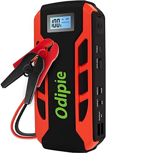 ODIPIE ジャンプスターター 18000mA大容量 12V車用エンジンスターター LCDディスプレイ搭載 800Aピーク電流 (最大6.0Lガソリン車・3.0Lディーゼル車対応) モバイルバッテリー機能 非常用電源 急速充電 安全保護システム LED緊
