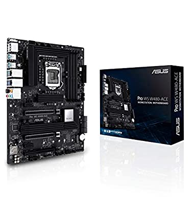 ASUS Pro WS W480 ACE LGA1200 (Intel 10th Gen) ATX Workstation Motherboard (ECC Memory, Dual LAN,Intel 2.5Gb LAN, Dual Type-C Thunderbolt 3 Ports, ASUS Control Center Express)