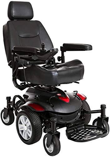 Elektrische Rollstühle für Erwachsene Rollstuhl Rollstuhl, medizinischer Reha-Stuhl for Senioren, Alte Menschen, Titan Axs Mid-Rad-Elektrorollstuhl - Kompakt Elektro-Rollstuhl - Motorisierte Stuhl for