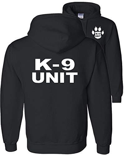Fair Game K-9 Unit Police Hoodie Sweatshirt K9 Handler Enforcement v2-Black-XL