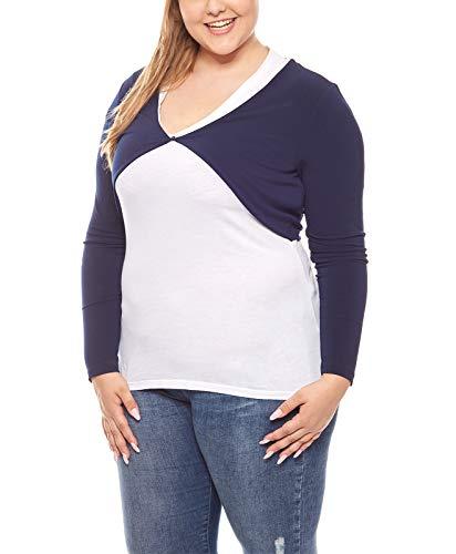 Ashley Brooke Shirtbolero Jäckchen Stola Große Größen Frauen Blau, Größenauswahl:46