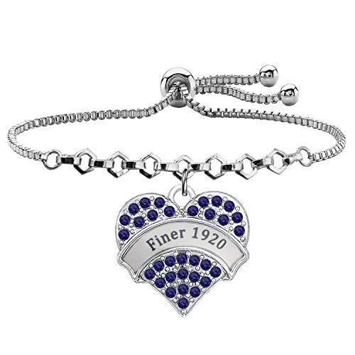 Finer 1920 Bracelet Zeta Phi Beta Sorority Paraphernalia Gift Sorority Jewelry Class Souvenir Gifts (Finer 1920)