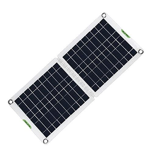 LOKOER Juego de Paneles solares Plegables de 60 W, Cargador de teléfono de energía Solar de 18/12 / 5 V con Placa de batería USB Dual, Herramienta de Carga, Acampar al Aire Libre, Senderismo