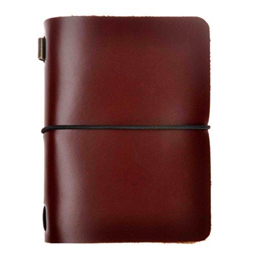 ZLYC - Cuaderno de notas en blanco, de piel, hecho a mano, diseño vintage, color marrón
