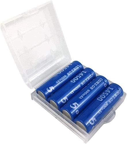 4pcs AA Recargable 14500 baterías de Ion de Litio 3 7V 800mAh Capacidad de Litio baterías de Litio cámaras calcador calculadora Azul antorcha (Plana)
