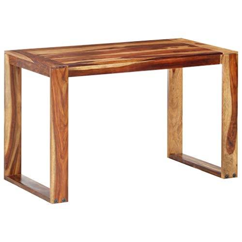 vidaXL Sheesham-Holz Massiv Esstisch Rustikal Esszimmertisch Küchentisch Holztisch Massivholztisch Speisetisch Tisch Palisander 120x60x76cm