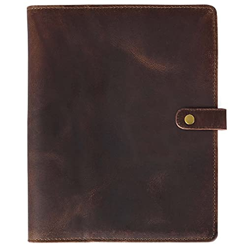 Elizo Leather Notebook Cover 8.5 x 11 - Fits Rocketbook - Cover For Notebook - Leather Journal Cover - Planner Cover - Refillable XXL Moleskine Cahier Cover - Fits Notebooks up to 8.5 x 11.25