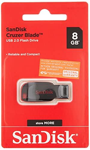 SanDisk SDCZ50-008G-B35 Cruzer Blade Memoria USB de 2.0 de 8 GB