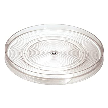 InterDesign Linus Lazy Susan Cabinet Turntable - Organizer Tray for Kitchen Pantry or Countertops - 11 , Clear