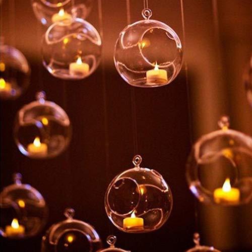 FHJSK Casa Boda Fiesta Cena decoración votiva Vela Soportes Vintage Cristal Vidrio Colgando Vela candelero Moderno candelabro Porta Vela (Color : 12)
