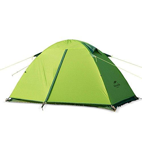 Camping Camping Ultra-léger Tiges en aluminium Double couche Tente anti-pluie, 2 personnes , green