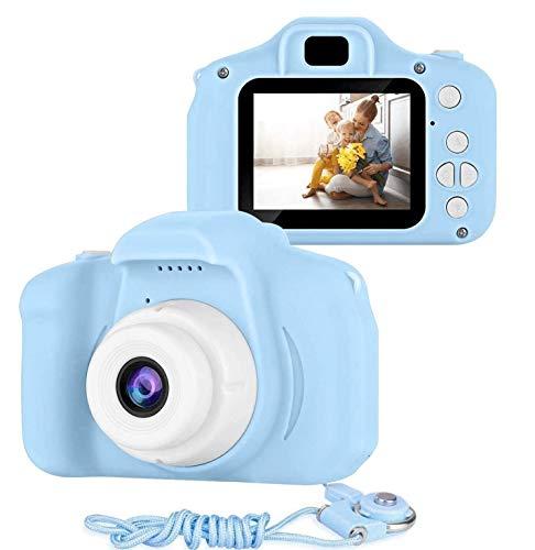 Muonve Kinderkameras, Digitalkamera 2,0 Zoll für Kinder mit 32 GB TF-Karte 1080P Videorecorder & Lanyard Anti-Drop-Design Mini-Spiegelreflexkamera Unterstützt Kleinwild