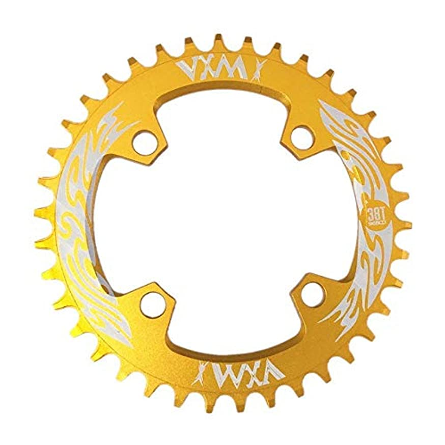 昇進バウンド意図するPropenary - Bicycle Crank & Chainwheel 96BCD 38T Ultralight Alloy Bike Bicycle Narrow Wide Chainring Round Chainwheel Cycle Crankset [ Gold ]