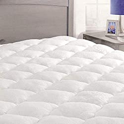 ExceptionalSheets Rayon from Bamboo Mattress Pad with Fitted Skirt - Extra Plush Cooling Topper