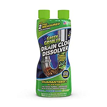 Green Gobbler GGDIS2CH32 Dissolve Liquid Hair & Grease Opener/Drain Cleaner/Toilet Clog Remover  31 OZ  32 OZ Colorless 31 Ounces