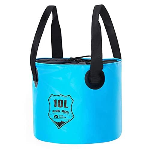 Pisamhid Cubo plegable portátil de 10 litros, multifuncional, para camping, pesca, fiesta, jardín, viajes, lavado de coche