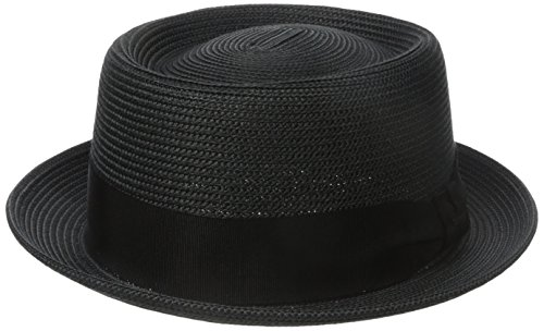 Bailey Waits Porkpie Hat, Noir (Black), Large Homme