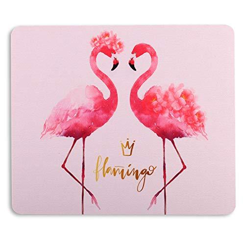 AOKSUNOVA Alfombrilla para ratón pequeña, diseño de flamencos, color rosa, 24 x 20 cm