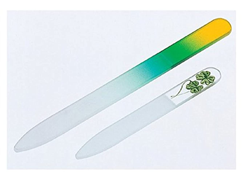 くすぐったいパイプライン無駄にチェコ製ガラス製爪やすり大小セット ( 爪ヤスリ )