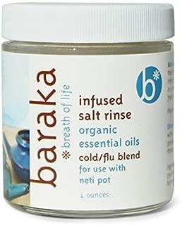 Baraka Neti Pot Infused Salt Rinse (4oz) with 5 Essential Oils