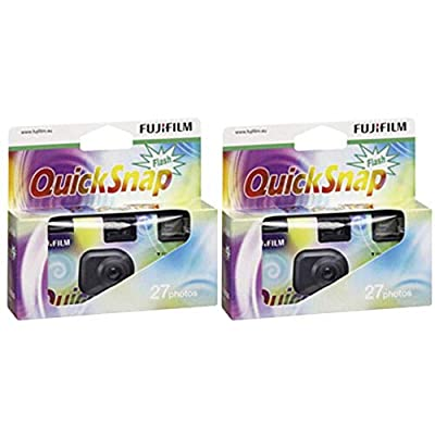 Fujifilm 7130786 QuickSnap 400 Disposable Flash Camera (Pack of 2) from FUJIFILM