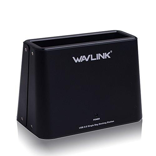 Wavlink USB 3.0 zu SATA Externe Festplatten-Dockingstation für 2,5 oder 3,5 Zoll HDD, SSD