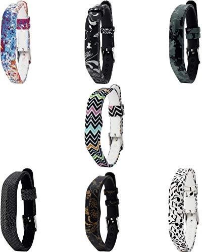 Gransho Bandas de Repuesto Compatible con Fitbit Flex 2, Reloj Correa de Silicona Suave Correas Pulseras Correa Deportiva Pulsera (7PCS A)