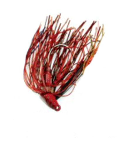 Mann's Bait Company Stone Jig Fishing Lure (Pack of 1), 1/4-Ounce, Hot Craw