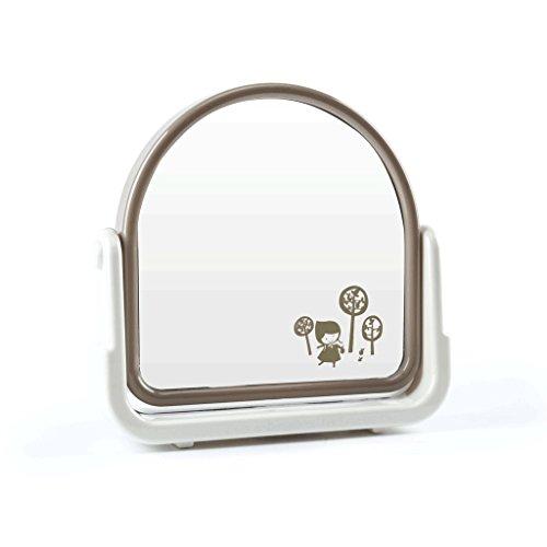 Miroir Rotatif Unique-miroir De Bureau Miroir De Maquillage Miroir Mode Dressing Miroir Dortoir Salle De Bains Table Top Miroir HD Rotatif Unique Miroir Motif Aléatoire (19.5 * 4.7 * 18.5 cm) Xuan - worth having