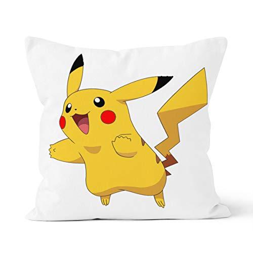 Funda de almohada Pokémon Pikachu cómoda y agradable al tacto, adecuada para la almohada del coche del dormitorio de la casa, 40 x 40 cm