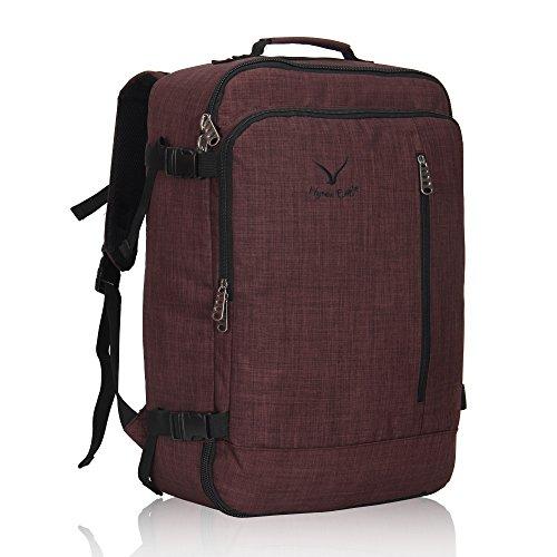 Veevan Sac à Dos Voyage Sac pour Ordinateur Portable 15.6 Bagage à Main 38L (Brun)
