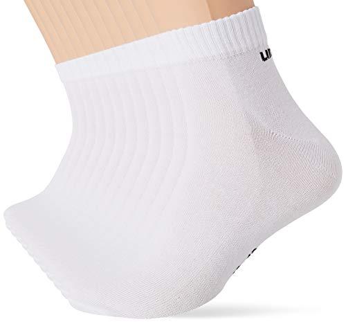 Umbro Calcetines de deporte para Hombre, Blanco, 39/42 (pack de 9)