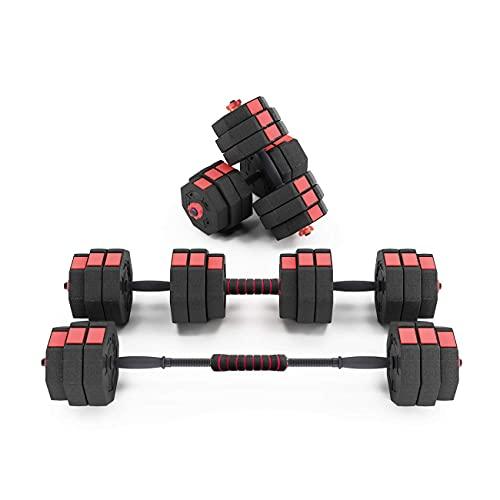 SogesHome Juego de Mancuernas Ajustables de 25 kg, Mancuernas de Fitness Antideslizantes para Entrenamiento físico en casa, Entrenamiento de musculación,SH-YZWD002-25