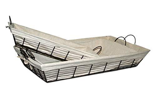 Bandeja Metal Y Tela Persa (70x40x12)