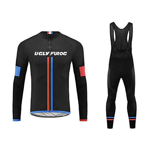 Uglyfrog Radtrikot Set Pro: Fahrradhose Pro/Thermo Radhose/Windstopper + Fahrradtrikot Pro/Thermo Radtrikot/Winter Fleece Anzüge