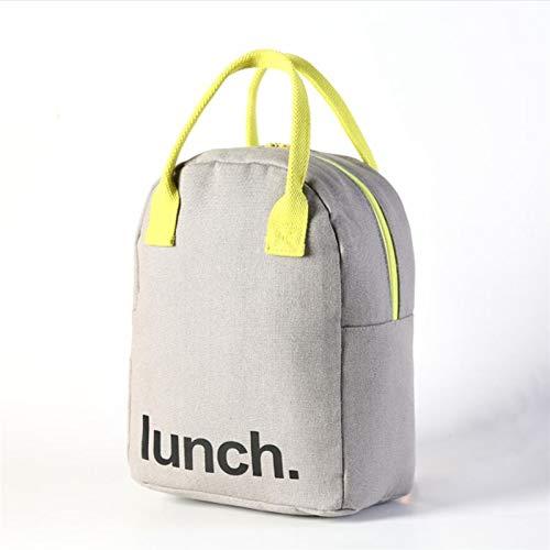 Lunchtasche für Arbeit, Schule und unterwegs Canvas Tragbare Weibliche Mittagessen Nahrungsmittel Box Tasche Mode Isoliert Thermal Food Picknick Mittagessen Tasche Für Frauen Kind Männer Kühler Einkau