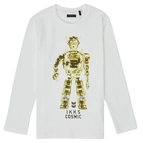 IKKS Junior XR10233 T-Shirt, Blanc cassé, 4A Garçon