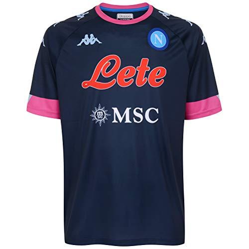 SSC Napoli Camiseta réplica Third 2020/21 Camiseta réplica Third 2020/21 Unisex – Adulto, Unisex Adulto, 31129MWCNAA04, BLU Scuro - Rosa, L