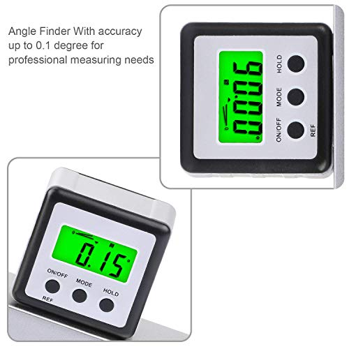 Digital Level Protractor Inclinometer Magnetic Level Angle Meter Angle Finder Level Box Angle Measuring Tool for Carpentry,Building, Automobile, Masonry etc