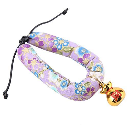 Cosiki 𝐖𝐞𝐢𝐡𝐧𝐚𝐜𝐡𝐭𝐬𝐠𝐞𝐬𝐜𝐡𝐞𝐧𝐤 Haustierhalsband, Hundehalsband aus weichem Stoff, dreidimensionale Katze für Hundehalsband(Purple M)