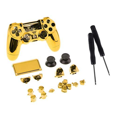 SDENSHI - Carcasa para mando PS4 Pro, color dorado