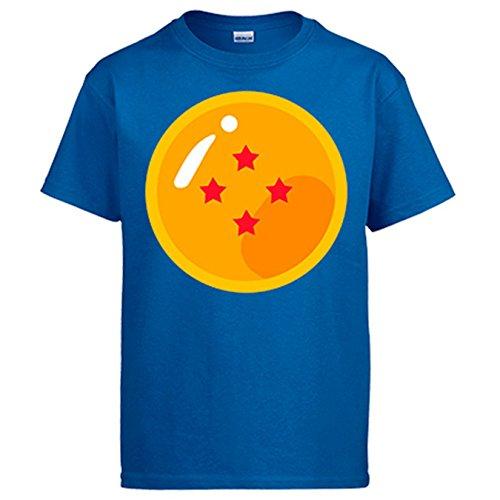 Diver Camisetas Camiseta Bola de 4 Estrellas del Abuelo de Goku - Azul Royal, XL