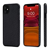 "PITAKA Magnetic Phone Case for iPhone 11 6.1"" Minimalist MagEZ Case 100% Aramid Fiber [Body Arm…"
