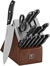 HENCKELS Definition Self-Sharpening Knife Block Set, 14-pc, Black/Stainless Steel