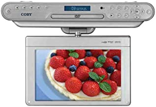 Coby KTFDVD1093 10.2-Inch Under-the-Cabinet DVD/CD Player with Digital TV and Radio, Silver