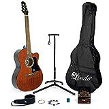 Lindo Apprentice Guitarra Acústica de Caoba (931C/WA) y Paquete Completo de...