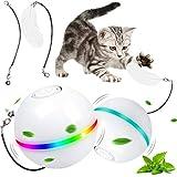 G.C Juguete Gato Interactivo, Pelotas de Juguete para Gatos, Bola de Gato, Juguetes Perros Pequeos, Bola Elctrica de 360 Grados Juguete con luz LED para Animal Domstico Gatos y Perros