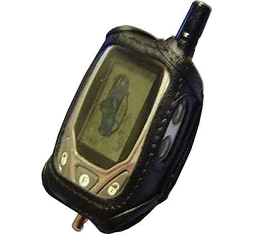 Car Alarm Remote Case Black Leather (Fits Prestige 5BCRCS, Valet 554R Ungo, Hornet, AT-4104, Blackwidow BWS-FM5, Avital 477L) #ALARMC